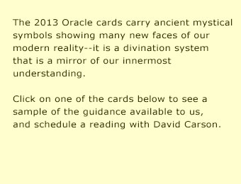 Guidance from the 2013 Oracle Divination Cards